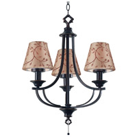 Kenroy Lighting Belmont 3 Light Outdoor Chandelier in Oil Rubbed Bronze   31367ORB