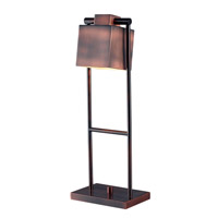 Kenroy Lighting Crimmins Desk Lamp 1 Light Desk Lamp in Vintage Copper   32000VC
