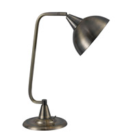 Hanger 20 inch 60 watt Antique Brass Desk Lamp Portable Light