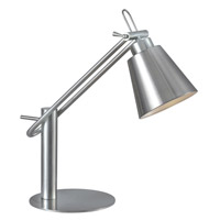 Kenroy Lighting 32004BS Nelson 20 inch 60 watt Brushed Steel Desk Lamp Portable Light photo thumbnail