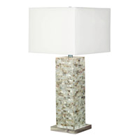 Kenroy Lighting 32025MOP Pearl 30 inch 150 watt Mother of Pearl Table Lamp Portable Light photo thumbnail