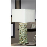 Kenroy Lighting 32025MOP Pearl 30 inch 150 watt Mother of Pearl Table Lamp Portable Light alternative photo thumbnail