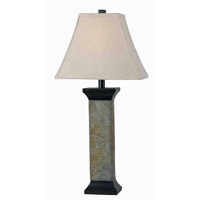 Kenroy Lighting Suffield 1 Light Table Lamp in Natural Slate   32035SL