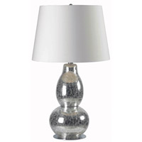 Mercurio 28 inch 150 watt Chrome Crackled Glass Table Lamp Portable Light