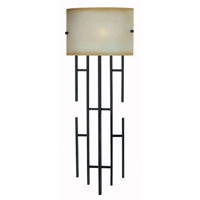 Kenroy Lighting Sydney 2 Light Wallchiere in Black  with Gold Highlights  32048BL