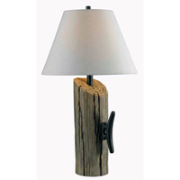Kenroy Lighting 32055WDG Cole 29 inch 150 watt Wood Grain Table Lamp Portable Light