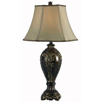 Kenroy Lighting Contessa 1 Light Table Lamp in Bronzed Gold   32057BZG