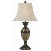 Kenroy Lighting Baroness 1 Light Table Lamp in Bronze with Marble  Accents  32061BZM