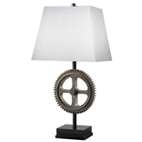 Kenroy Lighting Movement 1 Light Table Lamp in Weathered Steel   32067WS