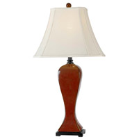 Kenroy Lighting Onoko 1 Light Table Lamp in Crimson Red   32070CRD