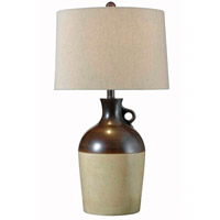 Kenroy Lighting Shine 1 Light Table Lamp in Antique Brown   32073ABR