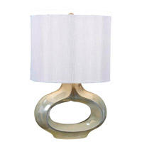 Kenroy Lighting Tivoli 1 Light Table Lamp in Pearlized White   32079PWH