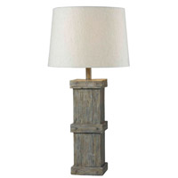 Kenroy Lighting Chandler 1 Light Table Lamp in Wood Grain   32084WDG