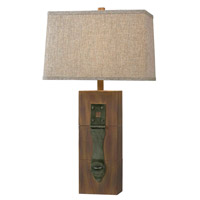 Locke 30 inch 150 watt Wood Grain Table Lamp Portable Light