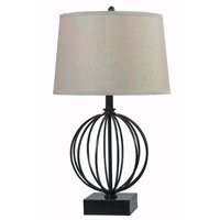 Kenroy Lighting Globus 1 Light Table Lamp in Oil Rubbed Bronze   32102ORB