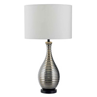 Kenroy Lighting Cyclone 1 Light Table Lamp in Chrome Ceramic   32105CH