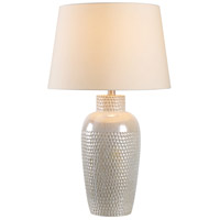 Kenroy Lighting 32107IRD Facade 28 inch 150 watt Iridescent Ceramic Table Lamp Portable Light
