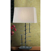Kenroy Lighting Flume 1 Light Table Lamp in Graphite   32111GRPH photo thumbnail