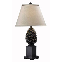 Kenroy Lighting 32114ABZ Spruce 20 inch 150 watt Aged Bronze Table Lamp Portable Light