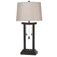Kenroy Lighting Chimes 1 Light Table Lamp in Copper Bronze   32124CBRZ