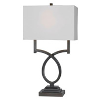 Kenroy Lighting Tau 1 Light Table Lamp in Weathered Steel   32127WS