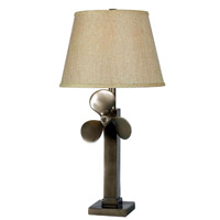 Kenroy Lighting Prop 1 Light Table Lamp in Weathered Steel   32129WS