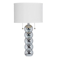 Kenroy Lighting 32140CH Bolero 29 inch 100 watt Chrome Table Lamp Portable Light photo thumbnail
