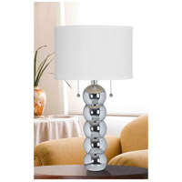 Kenroy Lighting 32140CH Bolero 29 inch 100 watt Chrome Table Lamp Portable Light alternative photo thumbnail