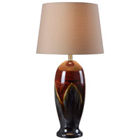 Lavo 22 inch 150 watt Red Ceramic Glaze Table Lamp Portable Light