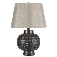 Kenroy Lighting Seville 1 Light Table Lamp in Aged Bronze   32163ABR