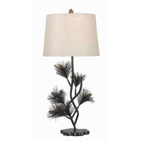 Kenroy Lighting Balsam 1 Light Table Lamp in Aged Bronze   32165ABR