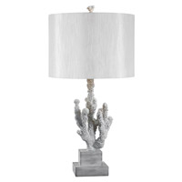Kenroy Lighting Coral 1 Light Table Lamp in White Coral   32166WH