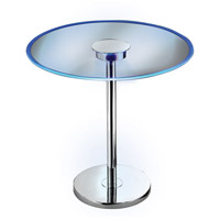 Kenroy Lighting 32176GCH Spectral 20 inch Chrome Glass End Table