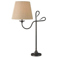 Kenroy Lighting Cromwell 1 Light Table Lamp in Golden Flecked Bronze   32177GFBR