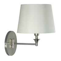 Martin 17 inch 100 watt Brushed Steel Wall Swing Arm Lamp Wall Light in White
