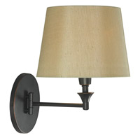 Martin 17 inch 100 watt Oil Rubbed Bronze Wall Swing Arm Lamp Wall Light in Tan