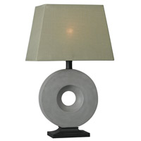 Kenroy Lighting Neolith 1 Light Outdoor Table Lamp in Concrete 32186CON
