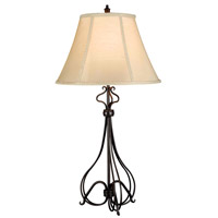 Kenroy Lighting Wallis 1 Light Table Lamp in Burnished Bronze   32189BB