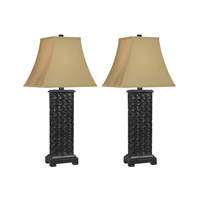 Kenroy Lighting Woven 1 Light Table Lamp in Mottled Bronze   32192MB