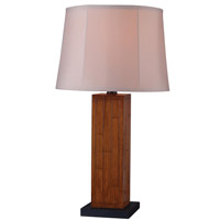 Kenroy Lighting Lakely 1 Light Outdoor Table Lamp in Teak 32194TK