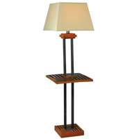 Kenroy Lighting Hadley 1 Light Outdoor Floor Lamp in Cherrywood and Grey 32196CYGY