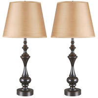 Kenroy Lighting 32200ORB Stratton II 28 inch 100 watt Oil Rubbed Bronze Table Lamp Portable Light