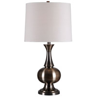 Harriet 28 inch 150 watt Antique Brass Table Lamp Portable Light