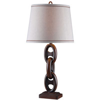 Kenroy Lighting Link 1 Light Table Lamp in Mahogany Bronze 32208MBRZ