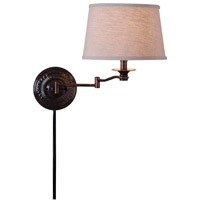 Kenroy Lighting Riverside 1 Light Wall Swing Arm Lamp in Copper Bronze 32217CBZ