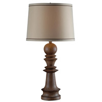 Kenroy Lighting Gambit 1 Light Table Lamp in Aruba Teak 32222AT