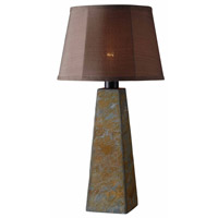 Kenroy Lighting Sleek 1 Light Outdoor Table Lamp in Natural Slate 32224SL