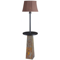 Kenroy Lighting Sleek 1 Light Outdoor Floor Lamp in Slate 32225SLBOX1