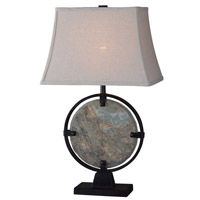 Kenroy Lighting Suspension 1 Light Table Lamp in Natural Slate 32226SL
