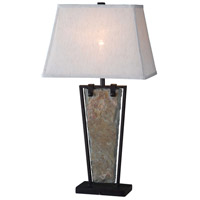 Kenroy Lighting 32227SL Free Fall 30 inch 150 watt Natural Slate Table Lamp Portable Light
